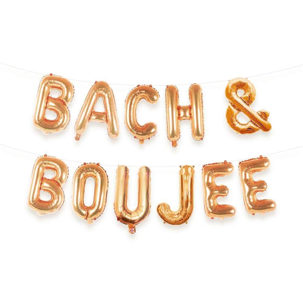 Bach Boujee Max 5 ☆ very popular 64% OFF Balloon Letter Kit Gold Rose