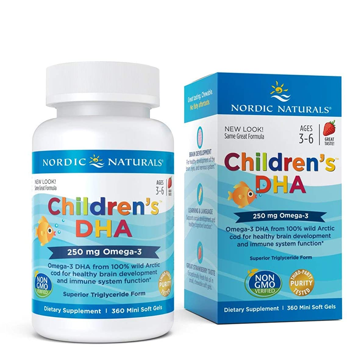 Nordic Naturals - Children's DHA, Healthy Cognitive Development and Immune Function, 360 Soft Gels