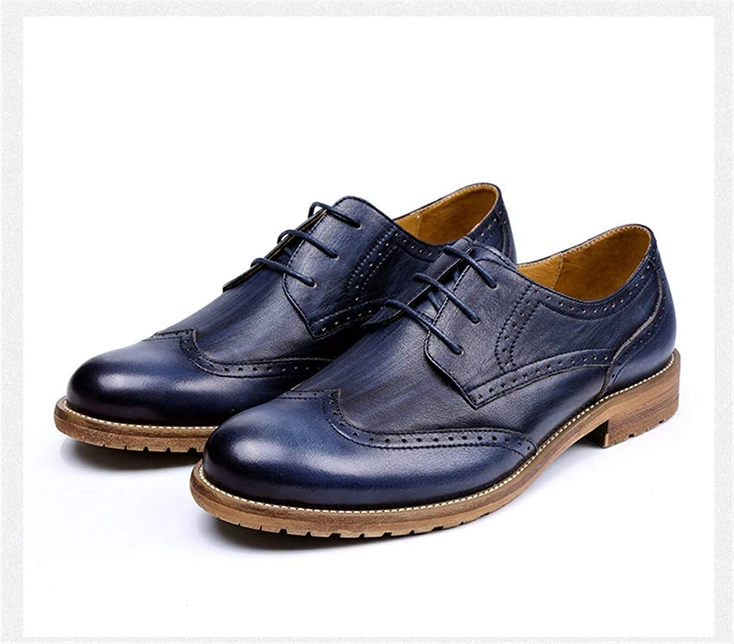 97ef83fb15ca5 Handmade New Men's shoes British Cowhide Breathable Men's laceup ...