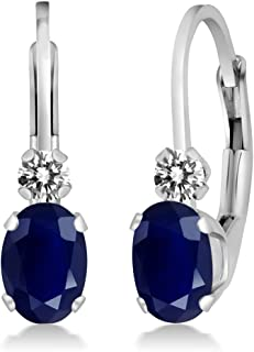 Best sapphire diamond earrings white gold Reviews