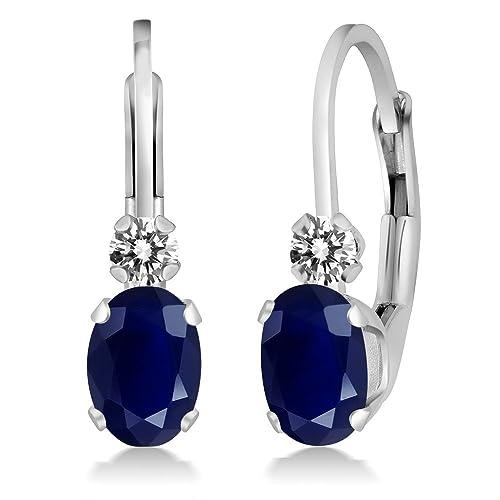 e7476df45b1cc Blue Sapphire Earrings: Amazon.com