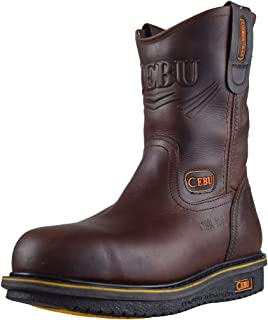 "CEBU Men's Comfort 10"" Steel-Toe Work Boot"