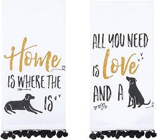 Kay Dee Designs Dog Lover's Cotton Kitchen Towel Bundle, Set of 2