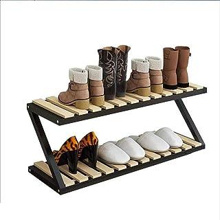 JJZXT Multi-Couches des ménages Chaussures Rack, Simple Fer Art Moderne Dortoir Chaussons tablettes de Rangement Chaussure...