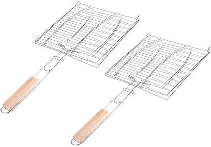 1PC BBQ Grill Net Edelstahl Netto Draht Ersatz Mesh-Camping Rechteck Grill-Picknick-Zubeh/ör L