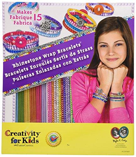 Pulseiras de strass para crianças da Creativity