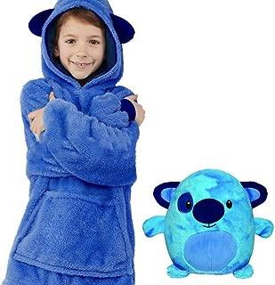 Children's Blanket Sweatshirt, Pet Shaped Wearable Kids Hoodie Nightdress For Boys And Girls,Wearable Sherpa Hoodie