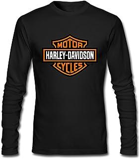 Men's Harley Davidson Motorcycle Logo 100% Cotton Long Sleeve Tee Shirt