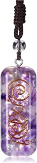 Top Plaza Orgone Chakra Crystal Necklace Adjustable Healing Crystal Stone Pendant Necklaces EMF Protection Positive Energy...