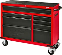 Milwaukee Heavy Duty Red & Black 46 in. 8-Drawer Rolling Steel Storage Cabinet   Contemporary Hardware Chest for Your Carpentry or Construction Tools like Drills, Wrenches, Drivers & Battery Packs