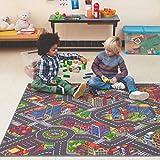 Carpet Studio Tapis Voiture Enfant 140x200cm, Tapis de Jeu pour Chambre Enfant pour Garçon et Fille, Tapis Antidérapant, 30°C Lavable - Big City