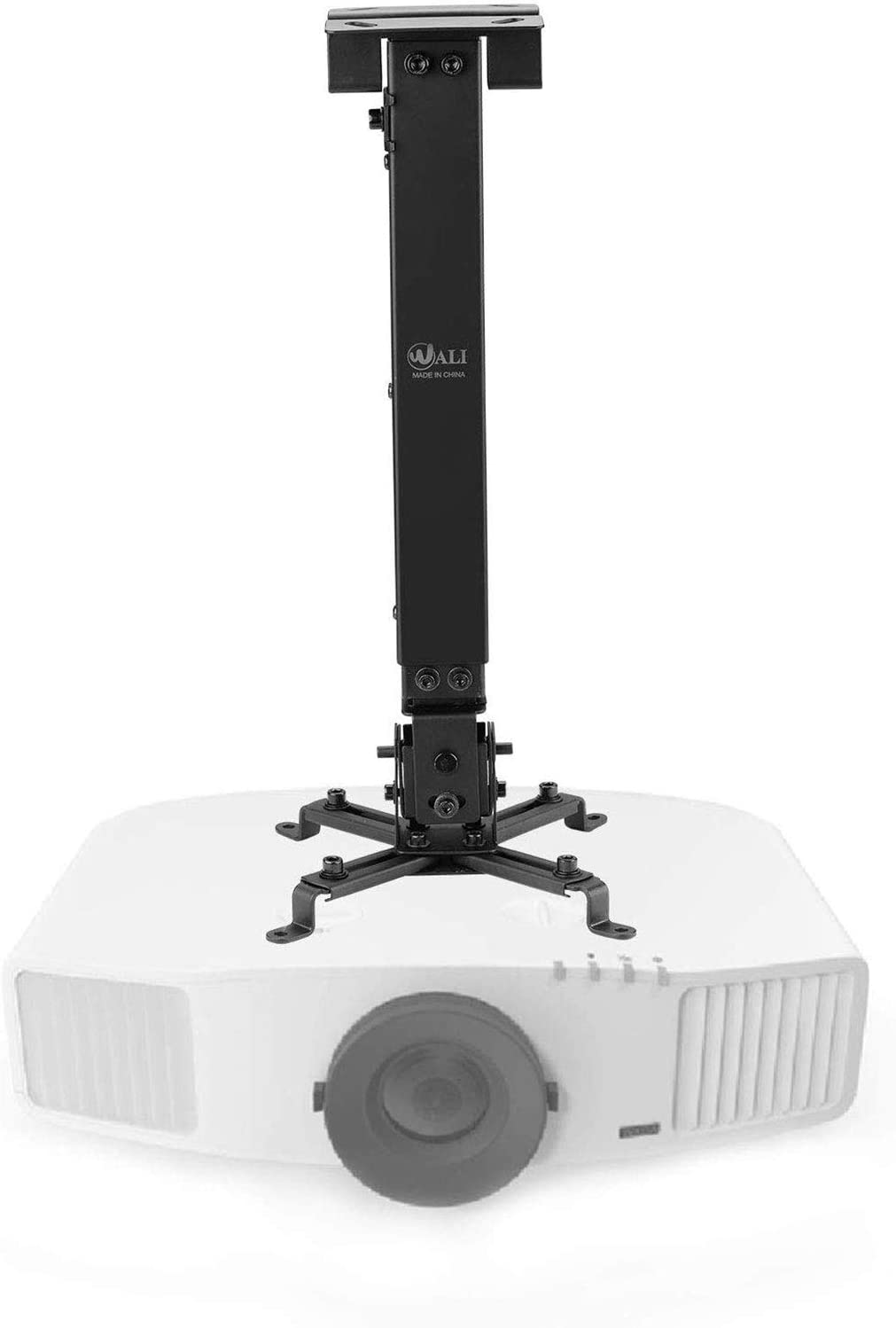 Universal Projector Ceiling Mount Multiple Adjustment Bracket with 25.6 inches Extension Pole, Hold up to 44 lbs (PM-001-BLK), Black