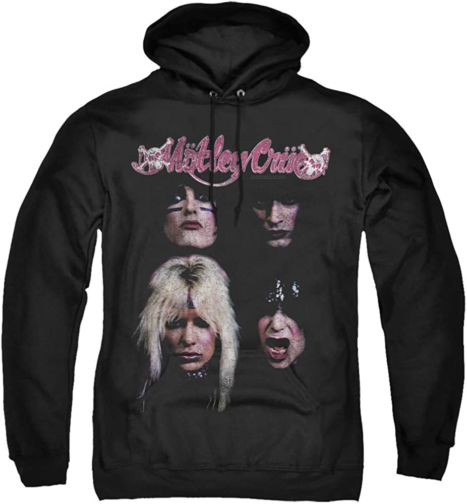 Motley 待望 ☆最安値に挑戦 Crue The Unisex Adult Pull-Over W Men Hoodie and for