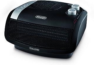 De'Longhi HTC4030 Calefactor cerámico, 1800 W, Acero Inoxidable, plástico, Negro