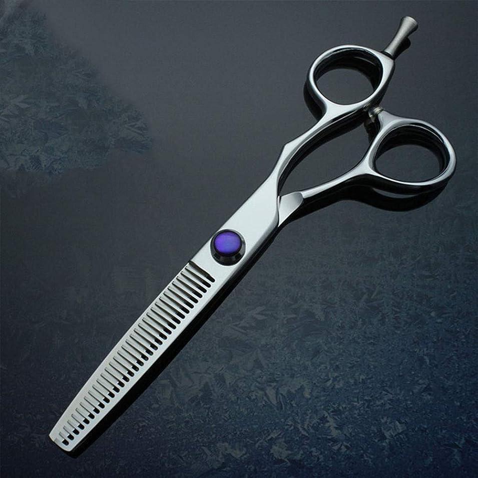 刃発火する固有の6インチプロフェッショナル美容院美容院ネイル美容鋏 モデリングツール (色 : 紫の)