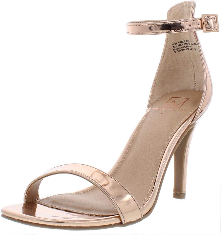 Material Girl Womens Blaire 6 Patent Mirrored Dress Heels Pink 9 Medium (B,M)
