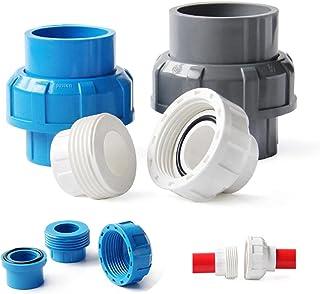 FSALFWUYIHDSF Raccord de tuyau en PVC – Union 20, 25, 32, 40, 50 mm connecteur solvant soudé, accessoire de plomberie, aqu...