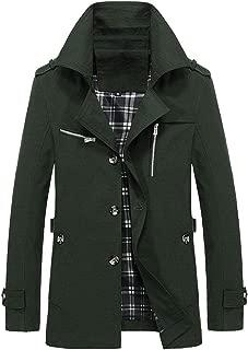 Mens Winter Warm Jacket Overcoat Outwear Slim Long Trench Buttons Coat Jacket