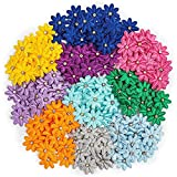 Bright Creations Artificial Mini Flowers, Satin Ribbon Daisy with Rhinestones (1 in, 200 Pack)