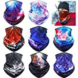 8 Pieces Summer UV Protection Bandana Breathable Cooling Neck Wrap Neck Gaiter Scarf