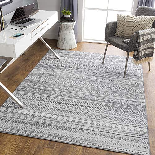 "Artistic Weavers Bohemian Moroccan Kenna Area Rug, 7'10"" x 10', Gray"