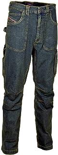 Cofra V152-0-00.Z48 - Pantaloni da Lavoro Barcelona, Taglia 48, Colore: Blu