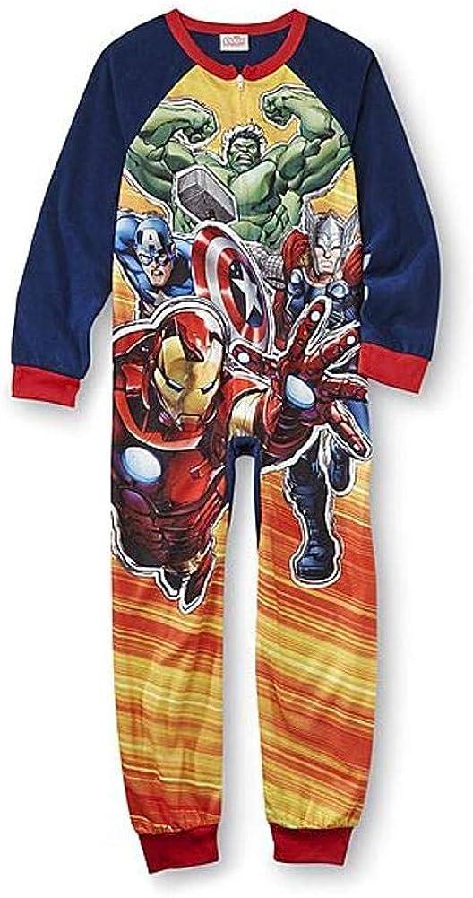 Marvel Avengers Boy Long Sleeve Blanket Sleeper Pajama Size 6/7