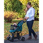 Pet Gear No-Zip Happy Trails Lite Pet Stroller for Cats/Dogs, Zipperless Entry, Easy Fold with Removable Liner, Storage Basket + Cup Holder, Pine Green (PG8030NZPGA) 8