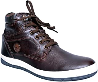 MARDI GRAS Mens Pure Leather Casual Shoes in TPR Sole