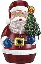 Old World Christmas Santa w/Tree Candle Light