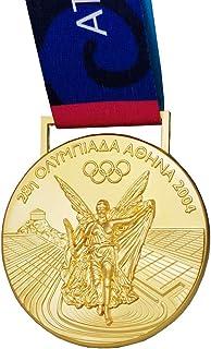 Griekenland Olympische medaille Souvenir, 2004 Athene Olympische Spelen gouden medaille, 1:1 zinklegering badge, collectib...