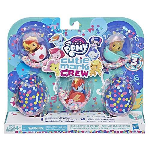 Hasbro My Little Pony - Personaggi Cutie Mark Crew Confetti Sorprese - Cofanetto di 5 Cutie Mark Crew Festa dello Sport - 5 cm