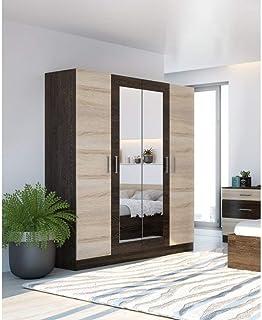 Armoire LESI 4 portes | Matériau : corps et façade en panneau de fibres de haute qualité avec surface revêtue | Instructio...