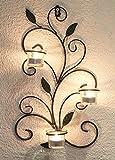 Montado en la pared titular de la vela 131004portavelas Metal 45cm candelabro Portavelas