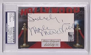 2015 Ha Celebrity Morley Meredith Opera Singer Autographed Signed Memorabilia Cut Auto PSA/DNA D 2000