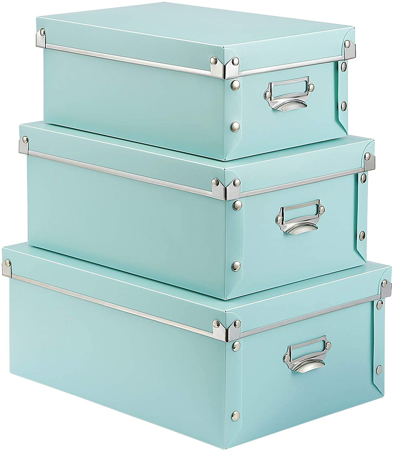 SEEKIND Foldable Storage Box Limited time sale with Max 57% OFF 3 Decorative Handles Lids and
