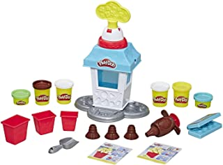 Play-Doh Kitchen Creations - Popcorn Party Playset inc 6 Tubs of Dough - Kids Creative Toys - Ages 3+