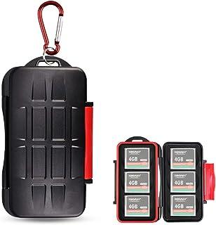 Kiorafoto CF メモリーカード 収納 ケース 6枚CF 対応 耐水 防塵