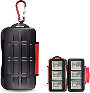 Kiorafoto 6 CF Card Slots Professional Water-Resistant Anti-shock Compact Flash Card Holder Case Storage Compact Flash Mem...