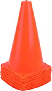 Sponsored Ad - 9 Inch Sports Cones, Basketball Cones, Traffic Training Cones, Agility Field Marker Cones for Soccer Footba...