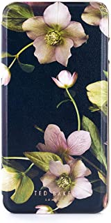 Ted Baker AW18 Fashion Mirror Folio Case for Apple iPhone 8 Plus / 7 Plus, Protective Cover for Professional Women/Girls - EARTHER- Arboretum