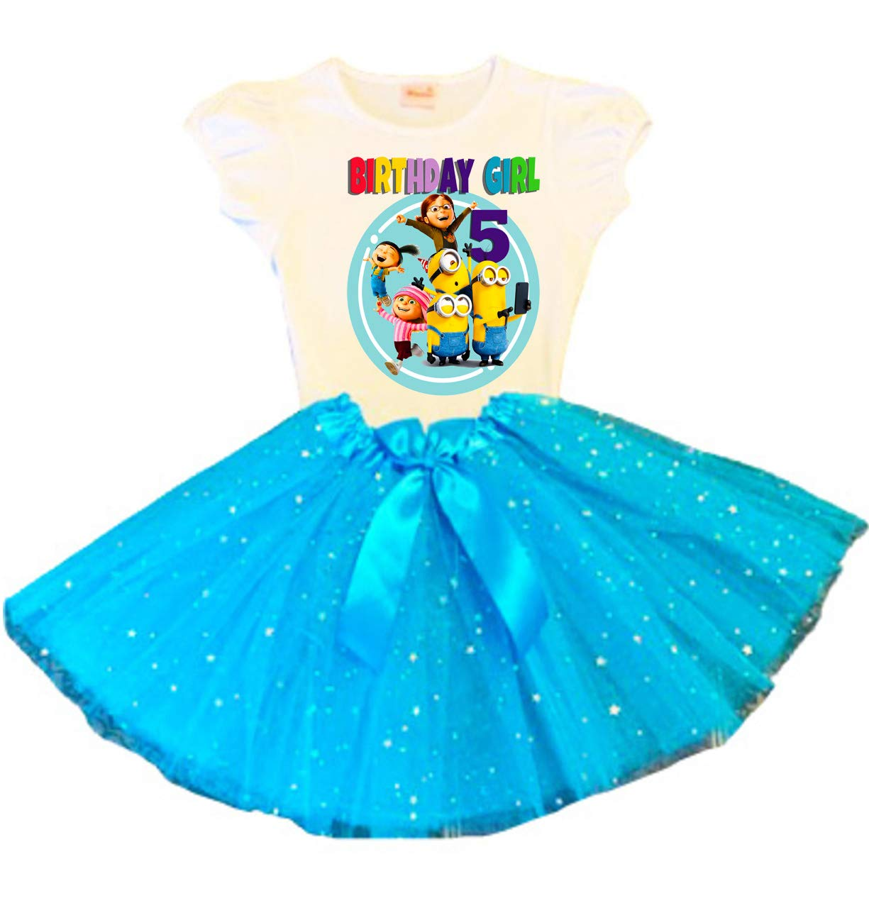Minions Birthday discount Tutu 5th Ou Dress Save money Turquoise Party