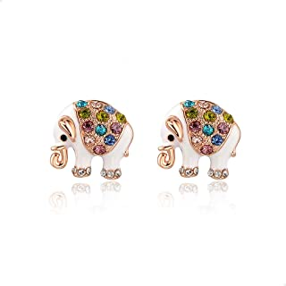 Elephant Stud Earrings for Teens/Women - Cute Trendy Elephant Jewelry - Indian Elephant Studs - Silver/Gold/Rose Gold - Bohemian Jewelry - Mall of Style