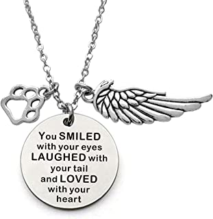 Pet Memorial Necklace Loss of Pet Memory Gift Dog Cat Loss Pendent Necklace