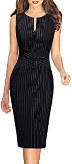 Womens Elegant Slim Front Zipper Work Business Office...