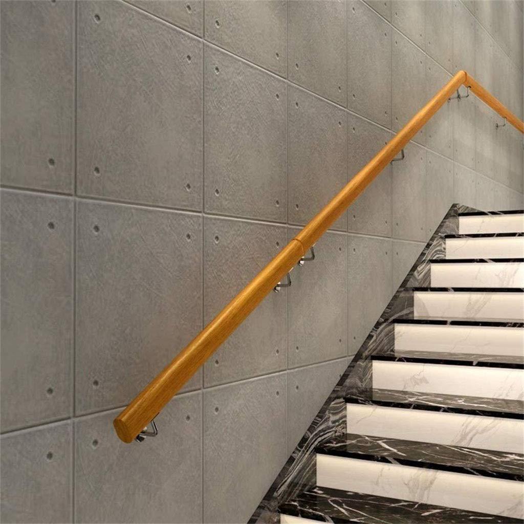 Pasamanos de escaleras, los niños de 1 pie de la escalera de 20 pies-pasamanos, pared antideslizante pasamanos de la escalera de madera, adecuado for hoteles, empresas, piscinas, gimnasios, salas de b: Amazon.es: