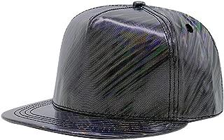 Shiny Holographic Baseball Cap Laser Leather Rainbow Reflective Glossy Snapback Hats