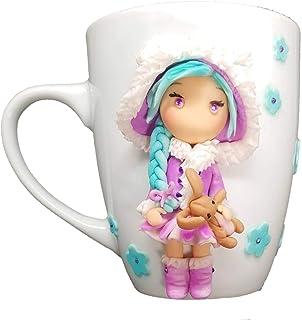 - FoamArt- Tazza Personalizzata con Nome 3D Bimba porcellana fredda