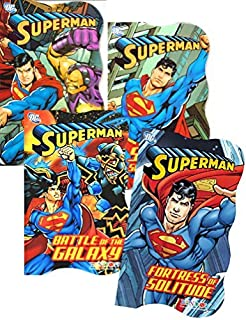 DC Comics Superman Board Book Set for Toddler Boys Kids ~ Set of 4 Superman Books (Superman Board Books)