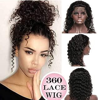 360 Lace Wigs Deep Wave Brazilian Human Hair Wig Curly 14